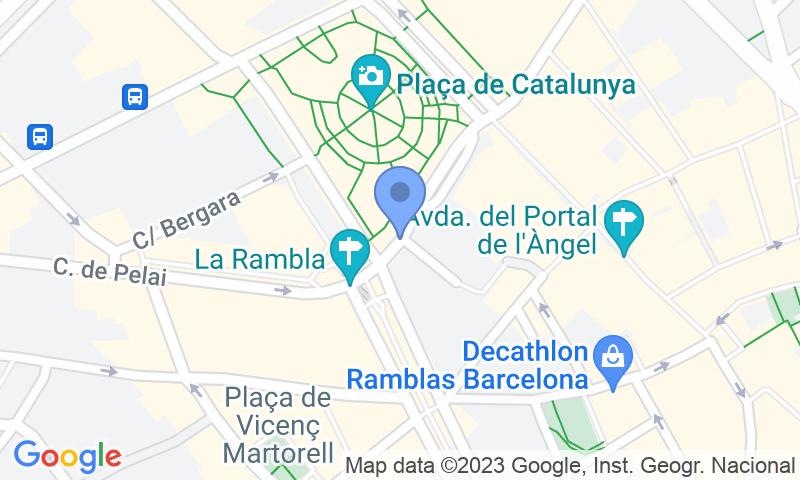 Localizzazione del parcheggio sulla mappa - Prenota un posto nel parcheggio SABA BAMSA Plaça Catalunya