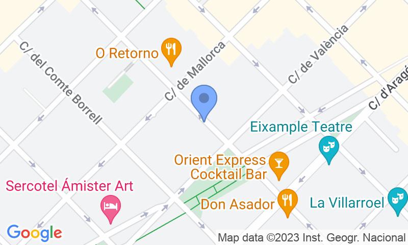 Localización del parking en el mapa - Reservar una plaza en el parking NN Urgell 2