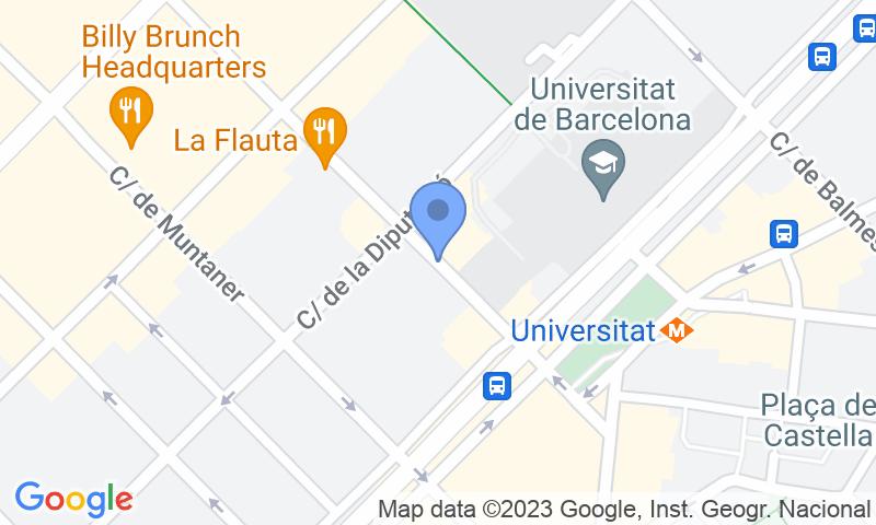 Localización del parking en el mapa - Reservar una plaza en el parking Romara - Plaça Universitat
