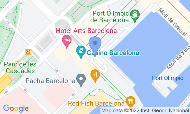 Localización del parking en el mapa - Reservar una plaza en el parking BSM Marina - Port Olímpic