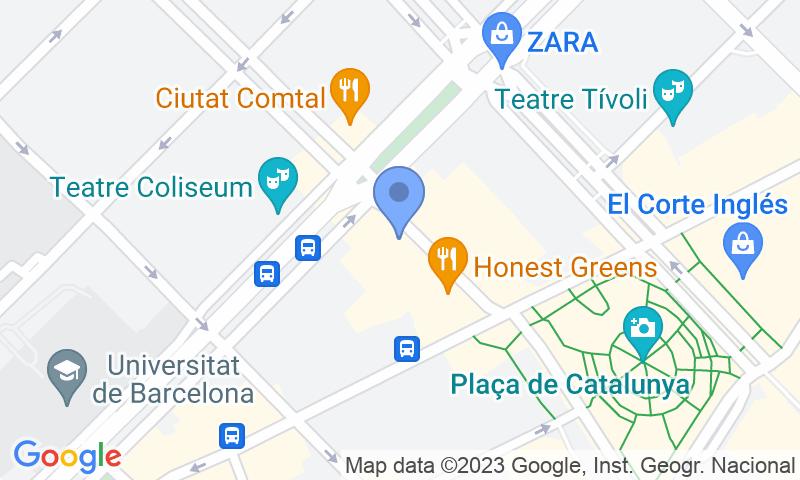 Emplacement du parking sur la carte - Réservez une place dans le parking SABA BAMSA Rambla Catalunya