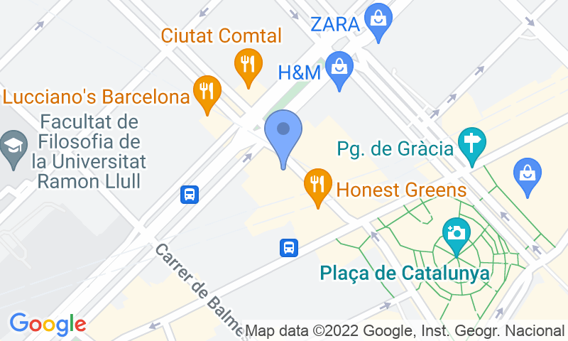 Parking location in the map - Book a parking spot in SABA BAMSA Rambla Catalunya car park