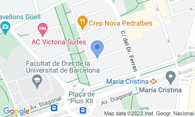 Lugar de estacionamento no mapa - Reserve uma vaga de  estacionamento no NN Pedralbes - Maria Cristina