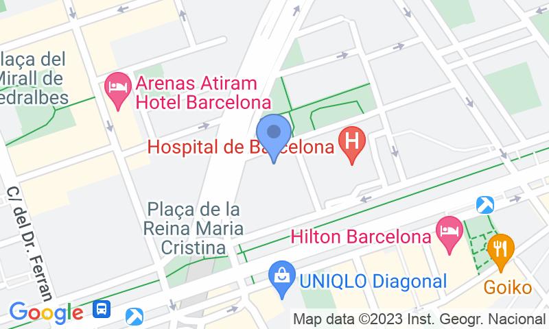 Localització del parking al mapa - Reservar una plaça al parking BSM Flos i Calcat