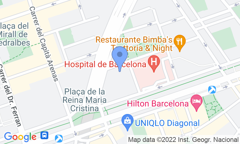 Localización del parking en el mapa - Reservar una plaza en el parking BSM Flos i Calcat