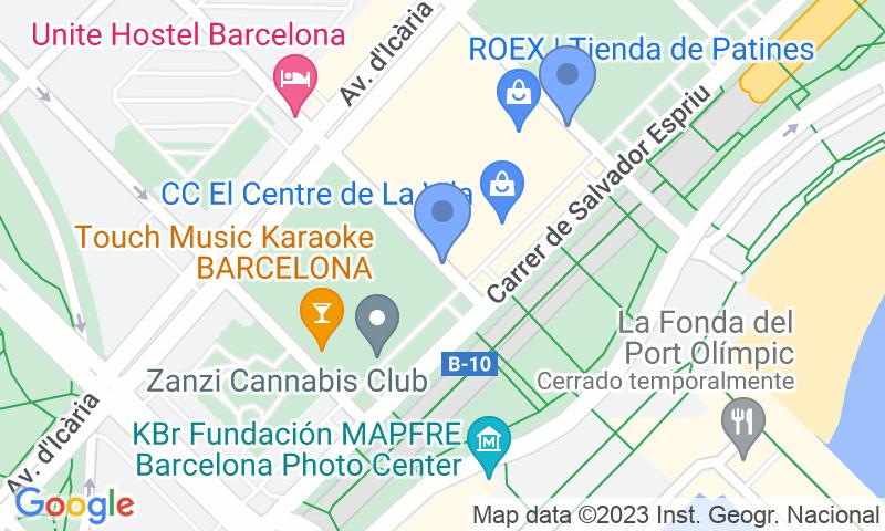 Localizzazione del parcheggio sulla mappa - Prenota un posto nel parcheggio Centre de la Vila - Vila Olímpica