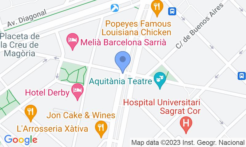 Localizzazione del parcheggio sulla mappa - Prenota un posto nel parcheggio SABA BAMSA Josep Tarradellas 1 - Sarrià