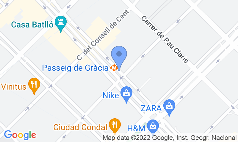 Lugar de estacionamento no mapa - Reserve uma vaga de  estacionamento no SABA BAMSA Passeig de Gràcia -Consell de Cent