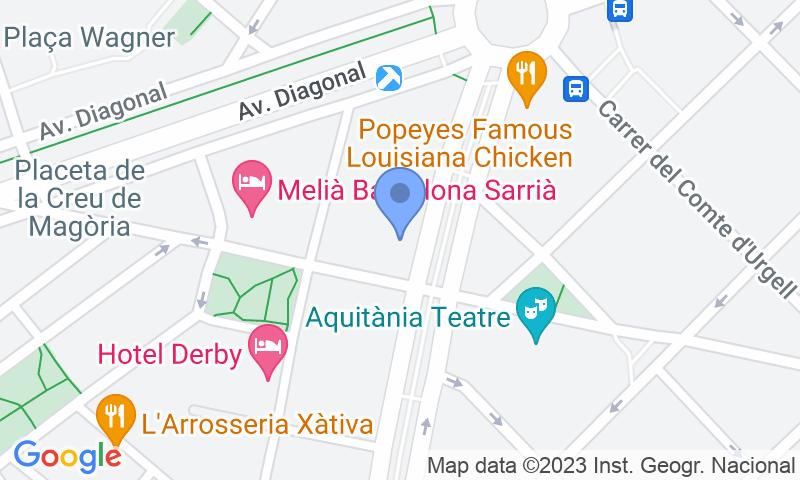 Localización del parking en el mapa - Reservar una plaza en el parking Peguera - Plaça Francesc Macià