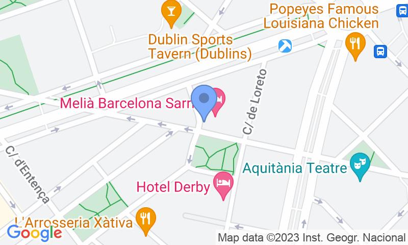 Standort des Parkplatzes auf der Karte - Buch einen Parkplatz im APK2 Meliá Sarrià Parkplatz.