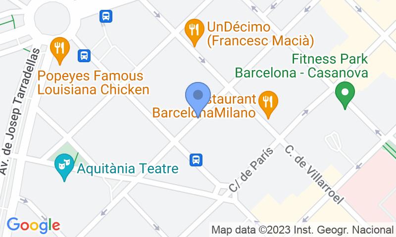 Localización del parking en el mapa - Reservar una plaza en el parking SABA BAMSA Londres