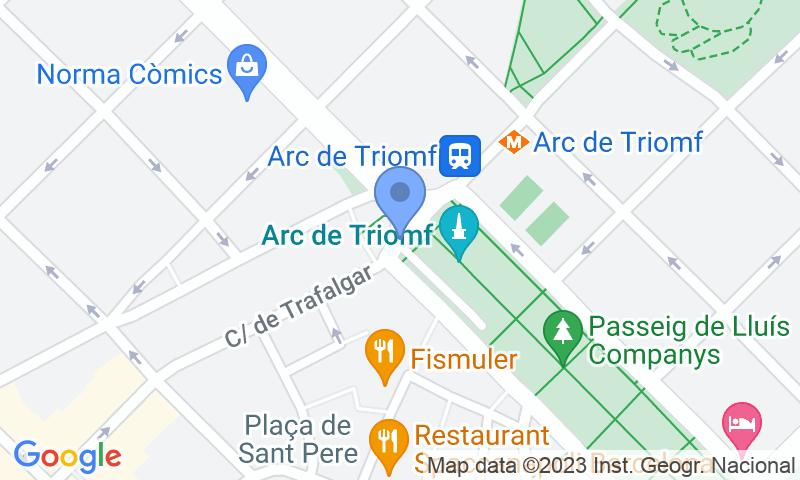 Parking location in the map - Book a parking spot in SABA Arc de Triomf -Lluís Companys car park