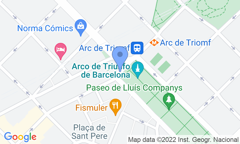 Localizzazione del parcheggio sulla mappa - Prenota un posto nel parcheggio SABA Arc de Triomf -Lluís Companys
