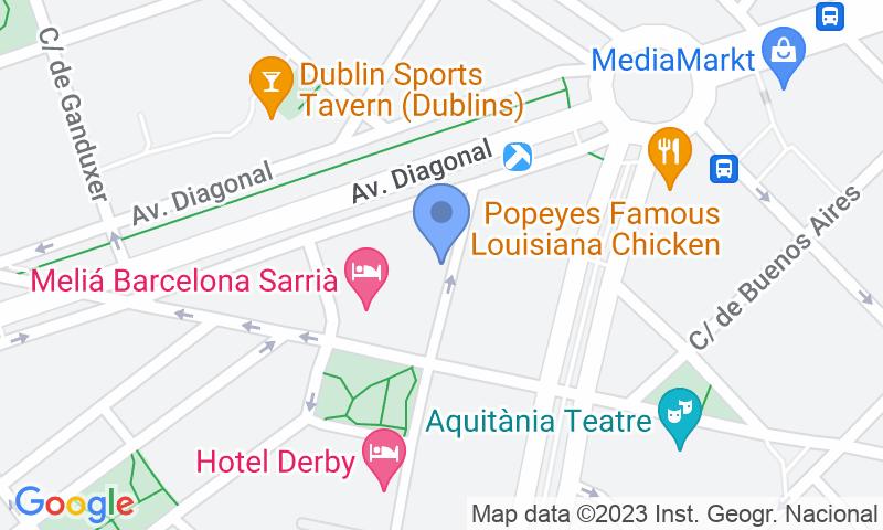 Localización del parking en el mapa - Reservar una plaza en el parking Melià Loreto