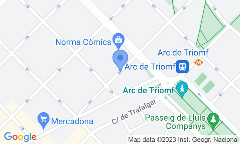Localizzazione del parcheggio sulla mappa - Parking Arc de Triomf Alí Bei