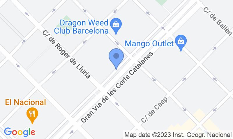 Lugar de estacionamento no mapa - Reserve uma vaga de  estacionamento no NN Gran Via - Bruc