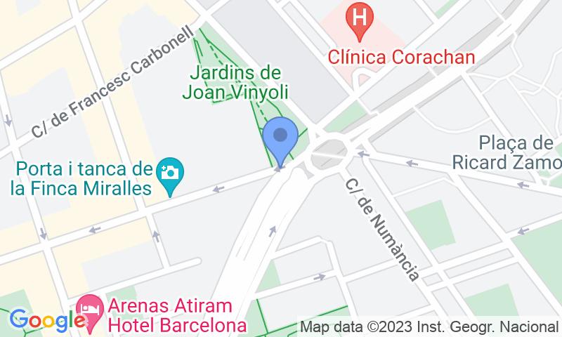 Localización del parking en el mapa - Reservar una plaza en el parking BSM Clínica Corachan - Cotxeres de Sarrià