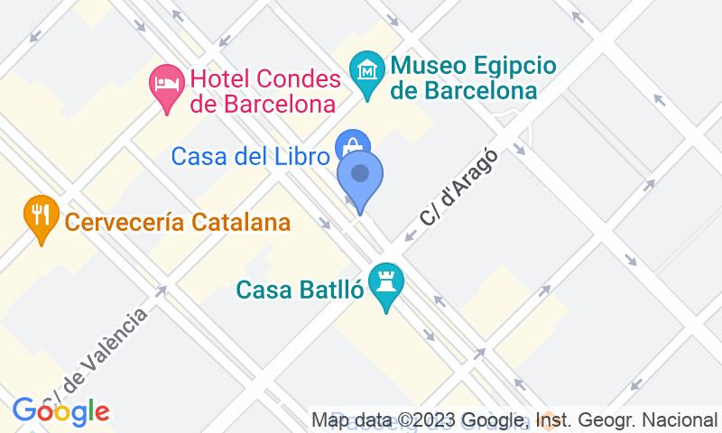 Lugar de estacionamento no mapa - Reserve uma vaga de  estacionamento no SABA BAMSA Passeig de Gràcia III - Aragó-Rosselló