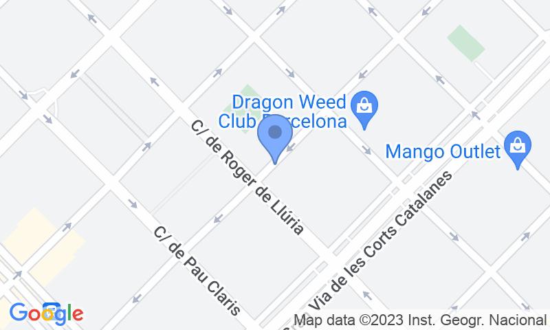 Localizzazione del parcheggio sulla mappa - Parking Carrer Diputació - Roger de Llúria - SABA BAMSA