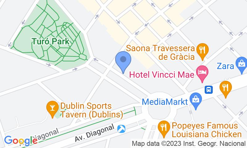 Localizzazione del parcheggio sulla mappa - Prenota un posto nel parcheggio SABA BAMSA Pau Casals - Turó Parc