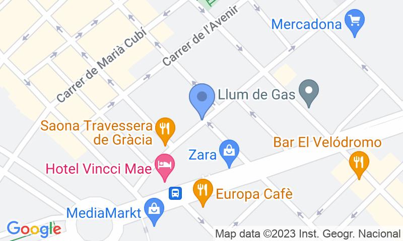 Localización del parking en el mapa - Reservar una plaza en el parking SABA Travessera de Gràcia - Francesc Macià