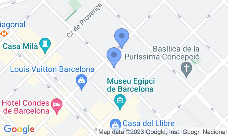 Parking location in the map - Book a parking spot in Financia - Pau Claris, La Pedrera car park