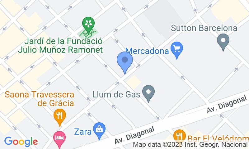 Localització del parking al mapa - Reservar una plaça al parking SABA Travessera de Gràcia - Muntaner