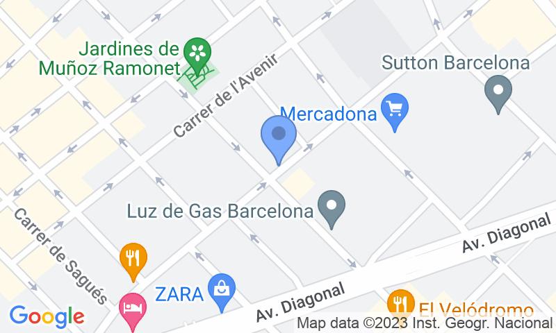 Localizzazione del parcheggio sulla mappa - Prenota un posto nel parcheggio SABA Travessera de Gràcia - Muntaner