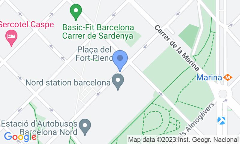 Parking location in the map - Book a parking spot in BSM Estació Barcelona Nord car park