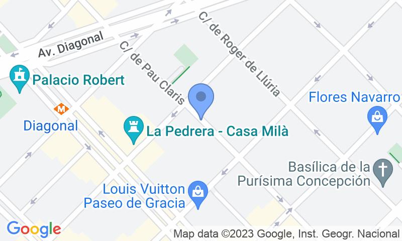 Localizzazione del parcheggio sulla mappa - Prenota un posto nel parcheggio SABA Pau Claris - La Pedrera