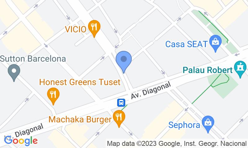 Localizzazione del parcheggio sulla mappa - Parking Diagonal - Via Augusta - Rambla Catalunya COEN Windsor
