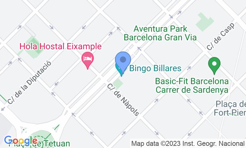 Localización del parking en el mapa - Parking Alpha: Monumental - Tetuán - Bingo Billares