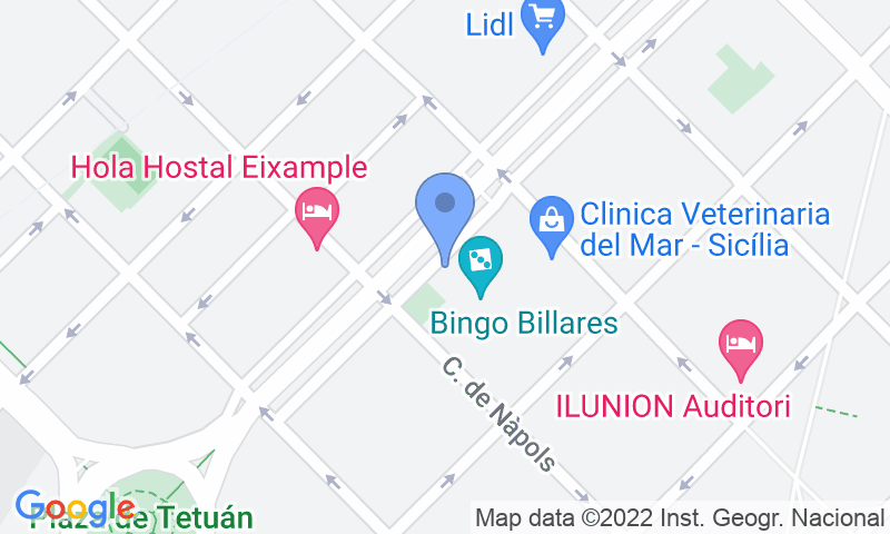 Localización del parking en el mapa - Parking Alpha: Monumental - Tetuán