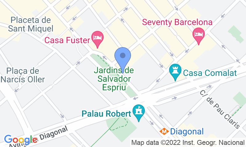 Parking location in the map - Book a parking spot in SABA BAMSA - Jardinets de Gracia car park