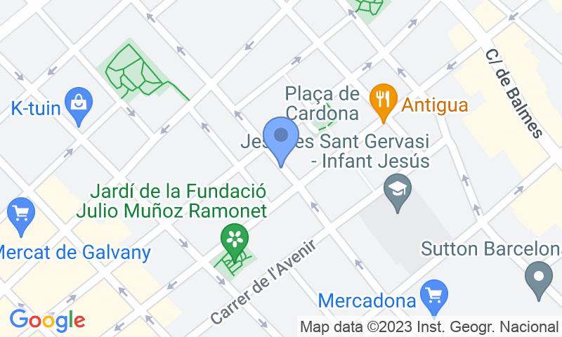 Lugar de estacionamento no mapa - Parking Clínica Barraquer - Voivolan - Aribau