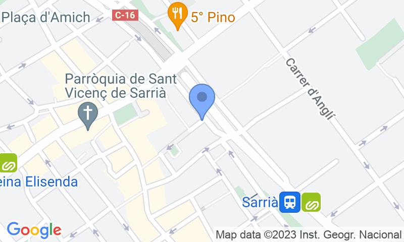 Emplacement du parking sur la carte - Réservez une place dans le parking BSM Bonanova- Porta de Sarrià