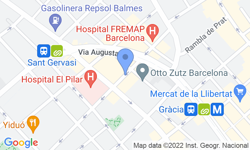 Parking location in the map - Book a parking spot in Madrazo 27 - Fremap Clínica del Pilar car park