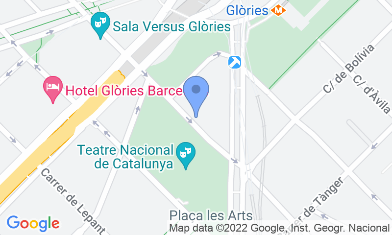 Localización del parking en el mapa - Reservar una plaza en el parking BSM Encants