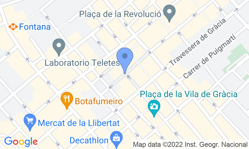 Localización del parking en el mapa - Reservar una plaza en el parking SABA BAMSA Plaça del Sol