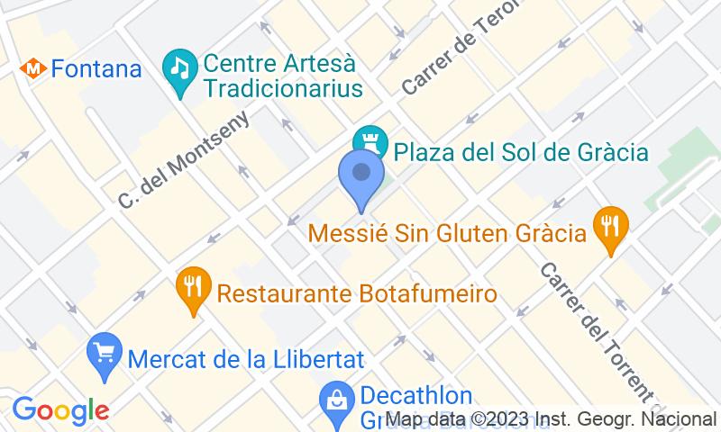 Standort des Parkplatzes auf der Karte - Buch einen Parkplatz im SABA BAMSA Plaça del Sol Parkplatz.