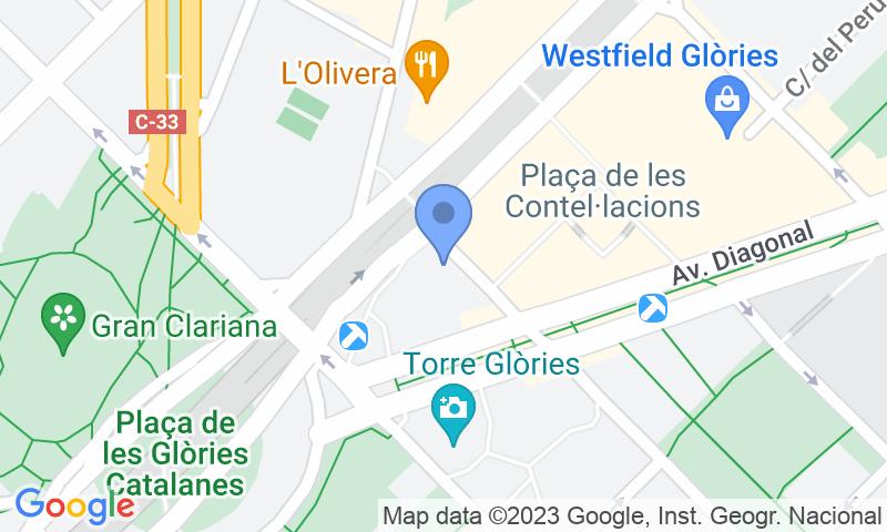Localizzazione del parcheggio sulla mappa - Prenota un posto nel parcheggio BSM Ona Glòries
