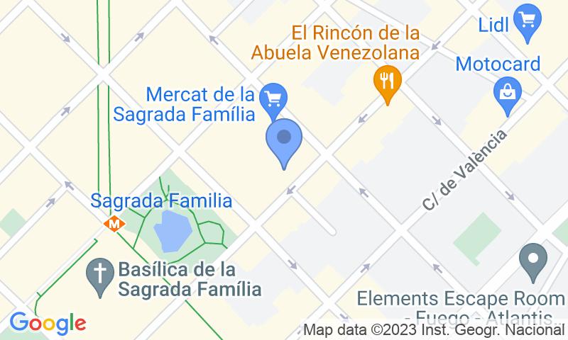 Lugar de estacionamento no mapa - Reserve uma vaga de  estacionamento no BSM Mercat Sagrada Família