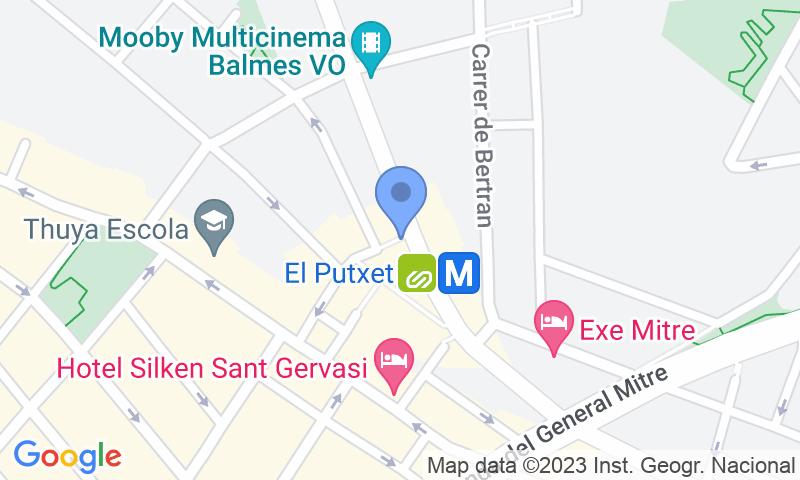Parking location in the map - Parking Mercat de Sant Gervasi - Plaça Joaquim Folguera