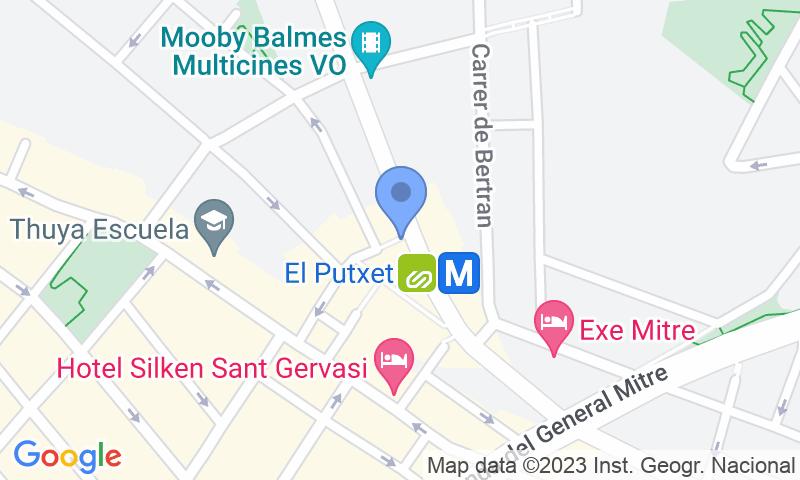 Lugar de estacionamento no mapa - Parking Mercat de Sant Gervasi - Plaça Joaquim Folguera