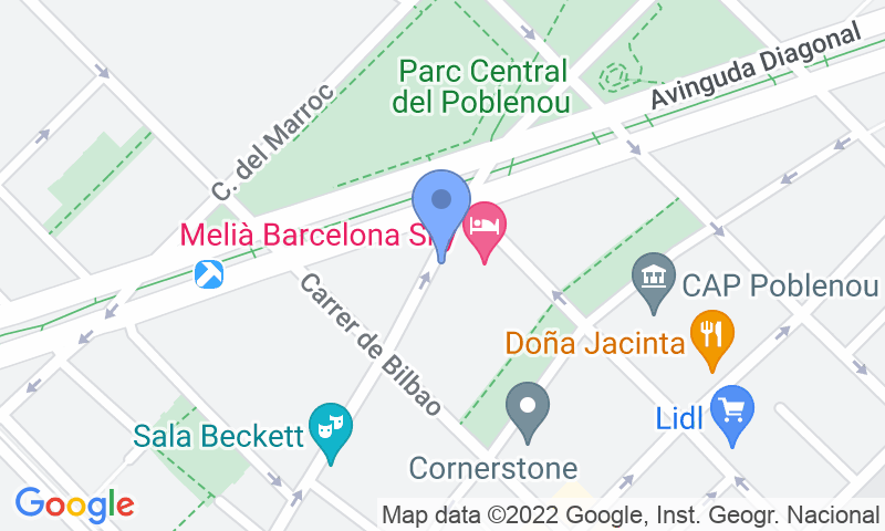 Localizzazione del parcheggio sulla mappa - Prenota un posto nel parcheggio Melià Sky