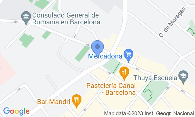 Localització del parking al mapa - Reservar una plaça al parking BSM Bonanova