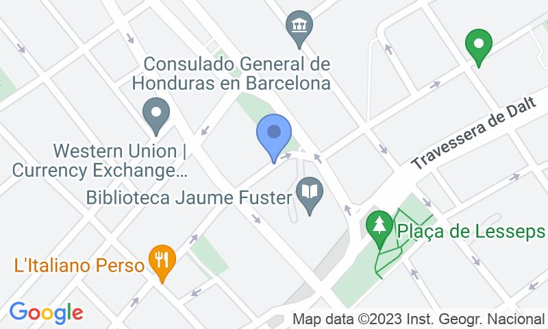 Lugar de estacionamento no mapa - Reserve uma vaga de  estacionamento no Refugi d'Obreres -  Parc Güell