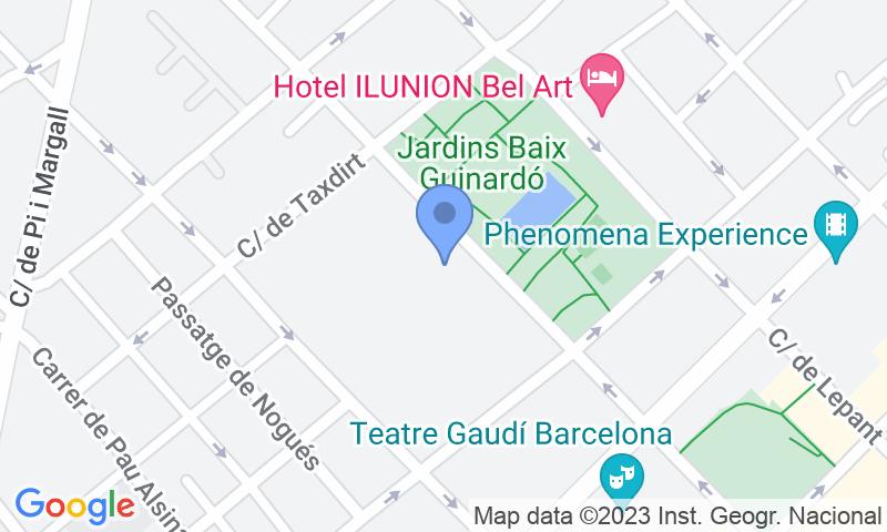 Localización del parking en el mapa - Reservar una plaza en el parking BSM Marina Gràcia