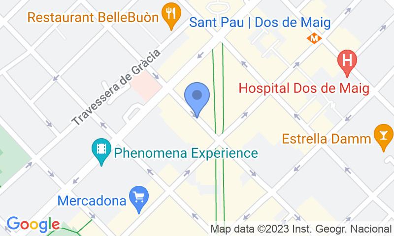Parking location in the map - Book a parking spot in BSM Avinguda Gaudí - Hospital de Sant Pau car park