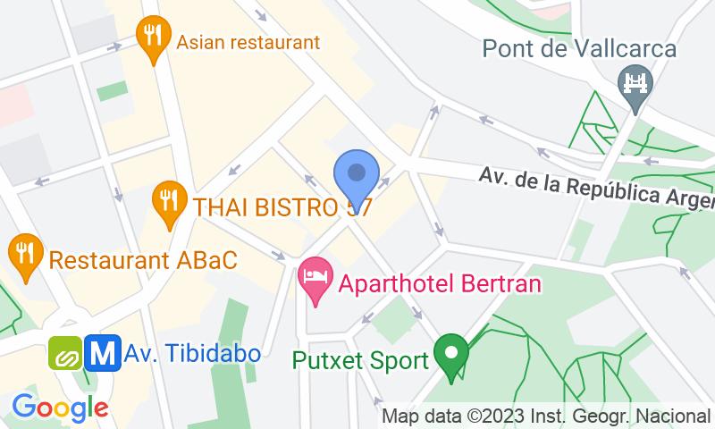 Lugar de estacionamento no mapa - Parking República Argentina - Sant Gervasi